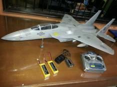 Jet F15 a escala a control remoto