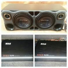 Caja de sonido y amplificadores